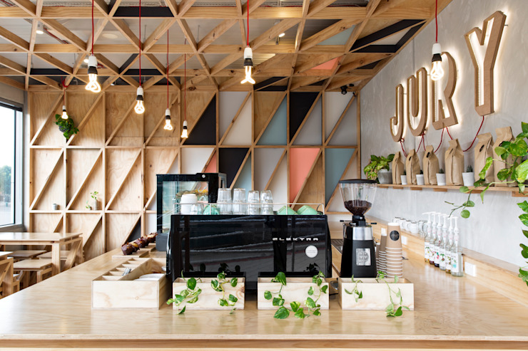 Jury Espaços de restauração modernos por Biasol Design Studio Moderno