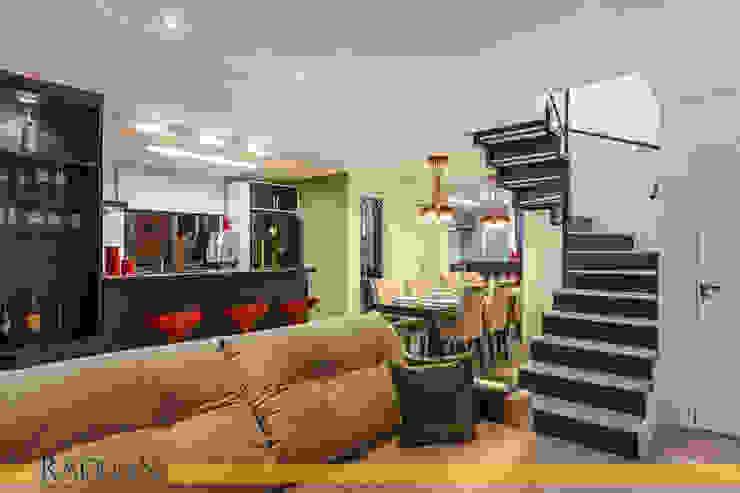 Duplex 80 m² – Vila Madalena Salas de estar modernas por Raduan Arquitetura e Interiores Moderno