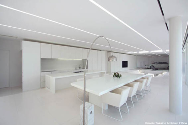 鷹取久アーキテクトオフィス Minimalist dining room