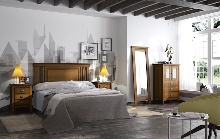 Projekty,  Sypialnia zaprojektowane przez ELIZANA