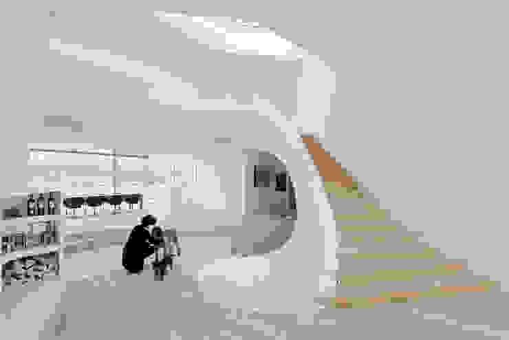 Haus am Weinberg Couloir, entrée, escaliers minimalistes par UNStudio Minimaliste