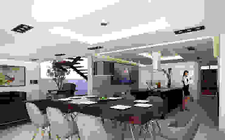 Minimalist dining room by ALONSO ARQUITECTOS Minimalist