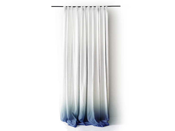 Blue Ombre curtains and cushions by Lovely Home Idea: modern  by LOVELY HOME IDEA, Modern