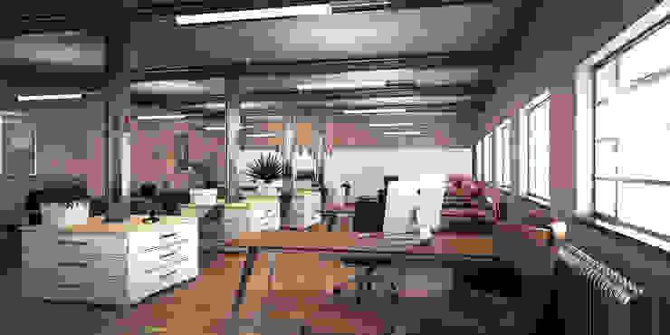 Hatton Garden Rustic style office buildings by vmavi Rustic