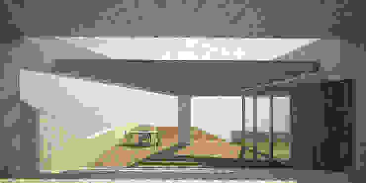 Mist Museum Modern balcony, veranda & terrace by vmavi Modern