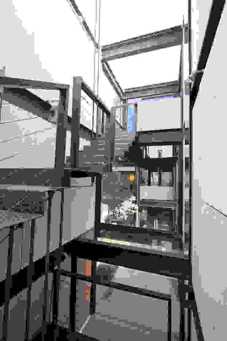 Casa Lau Pasillos, vestíbulos y escaleras modernos de Serrano Monjaraz Arquitectos Moderno