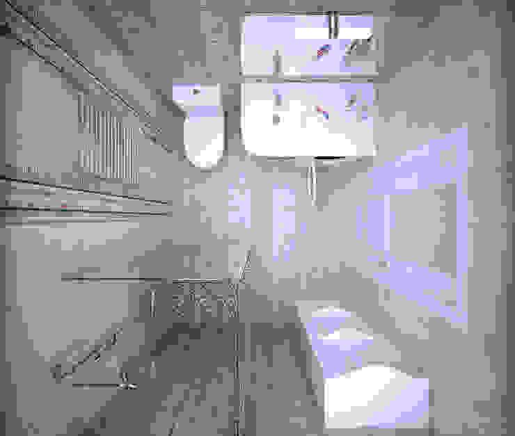 "1-комнатная квартира в ЖК ""На Морской"" (Краснодар) Ванная комната в стиле модерн от Студия интерьерного дизайна happy.design Модерн"