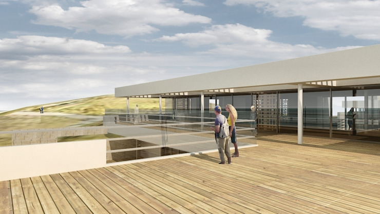 Oscars Scheveningen Moderne balkons, veranda's en terrassen van HVE Architecten bv Modern