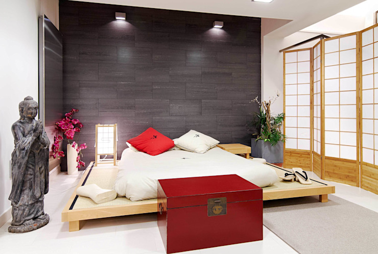 Chambre asiatique par FANSTUDIO__Architecture & Design Asiatique