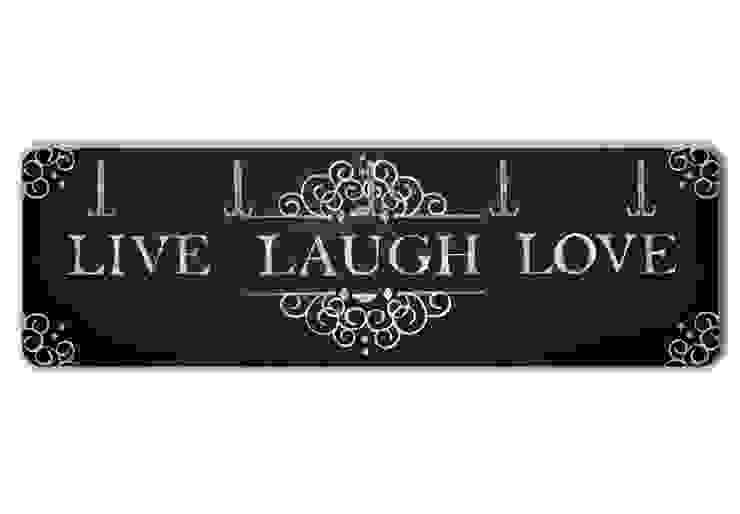 Garderobe Live Laugh Love von K&L Wall Art Ausgefallen