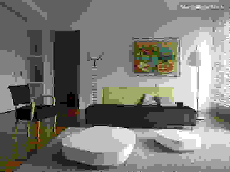 LOFT R - Aménagement d'un plateau à PARIS XI Salon moderne par Agence d'architecture Odile Veillon / ARCHI-V.O Moderne