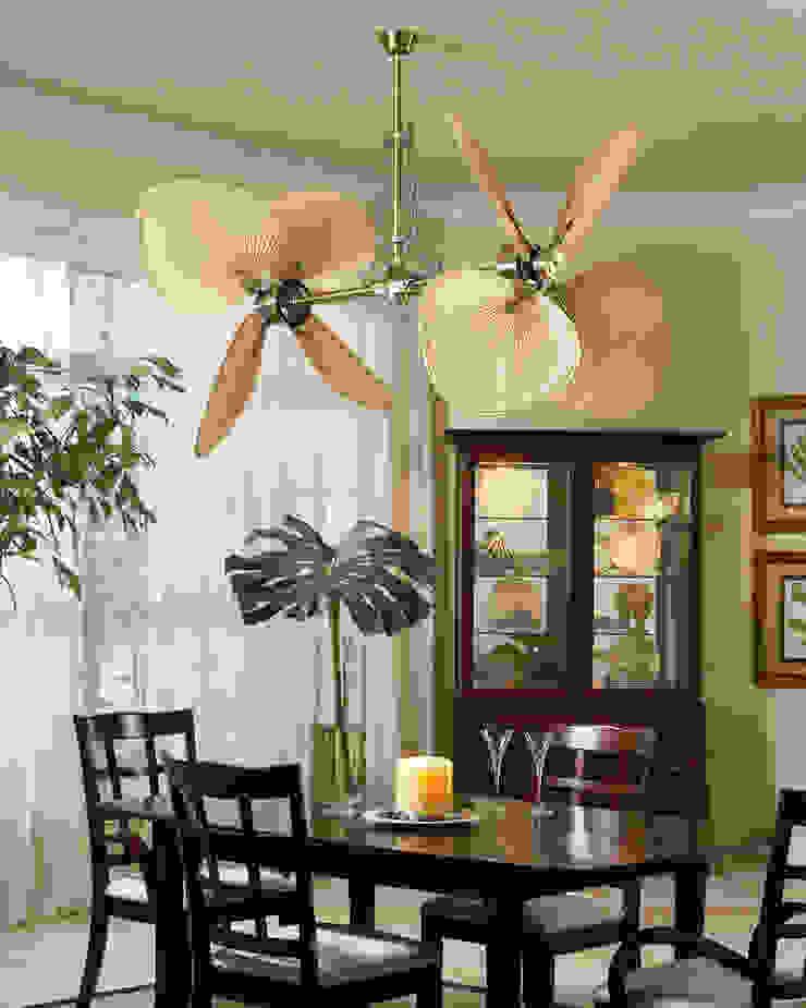 CASA BRUNO ventilador vertical Palisade Comedores de estilo tropical de Casa Bruno American Home Decor Tropical