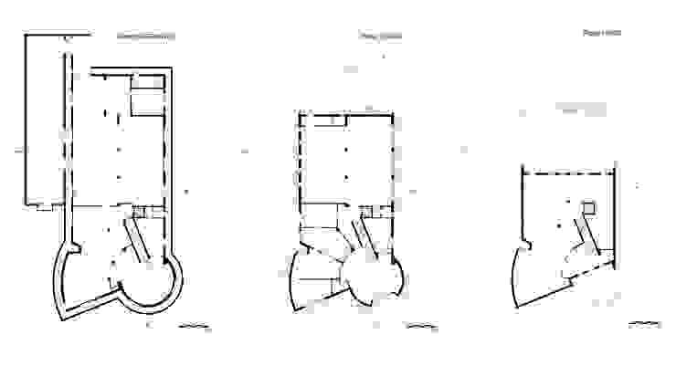 material joints – show-room arredamenti di pietro quatrini architetto Moderno