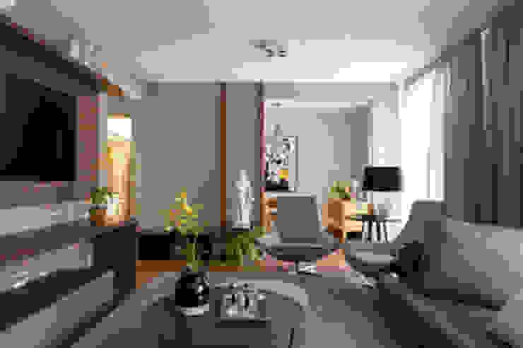 Amaury – São Paulo Salas de estar modernas por TICIANA BADRA ARQUITETURA E INTERIORES Moderno