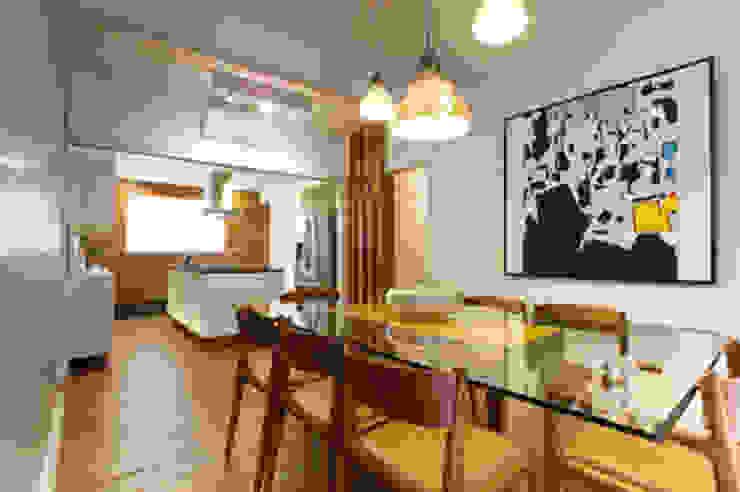Amaury – São Paulo Salas de jantar modernas por TICIANA BADRA ARQUITETURA E INTERIORES Moderno