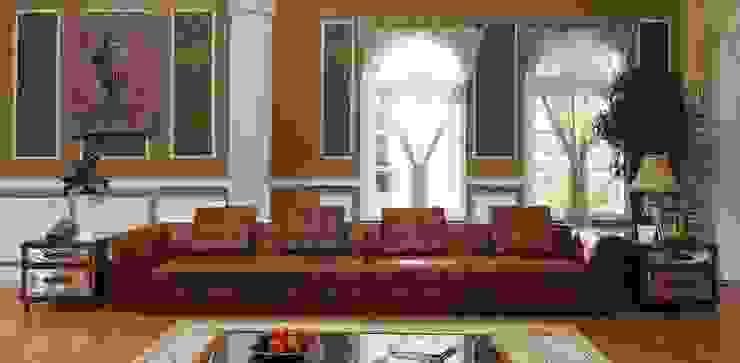 Vintage Leather Sofa : classic  by Locus Habitat,Classic