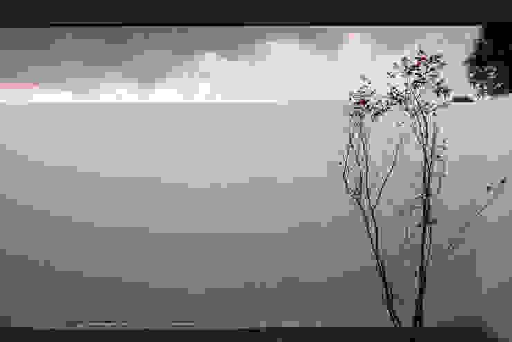 寝室の庭 ミニマルな 家 の 川添純一郎建築設計事務所 ミニマル