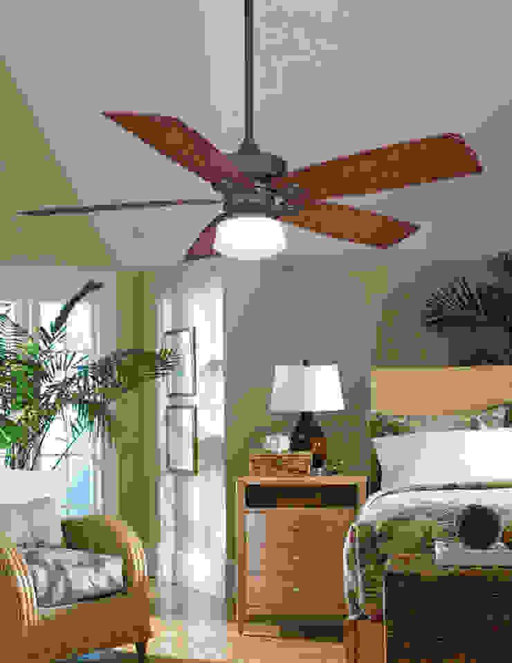 CASA BRUNO  Ventilador Cancun, bronce antiguo:  de estilo tropical de Casa Bruno American Home Decor, Tropical