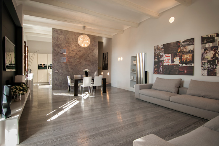 Residenza privata sull'Appia Antica Case moderne di FSD Studio Moderno