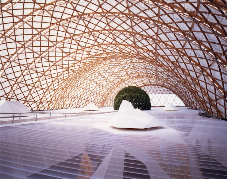 ​Japan Pavilion, Expo 2000 Hannover の 坂茂建築設計 (Shigeru Ban Architects)