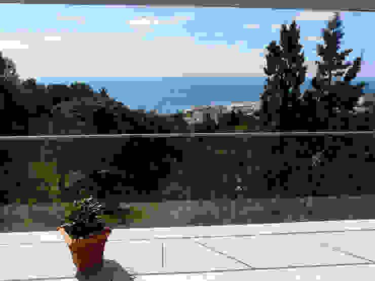 Balkon, veranda & terras van Hamerman Rouby Architectes
