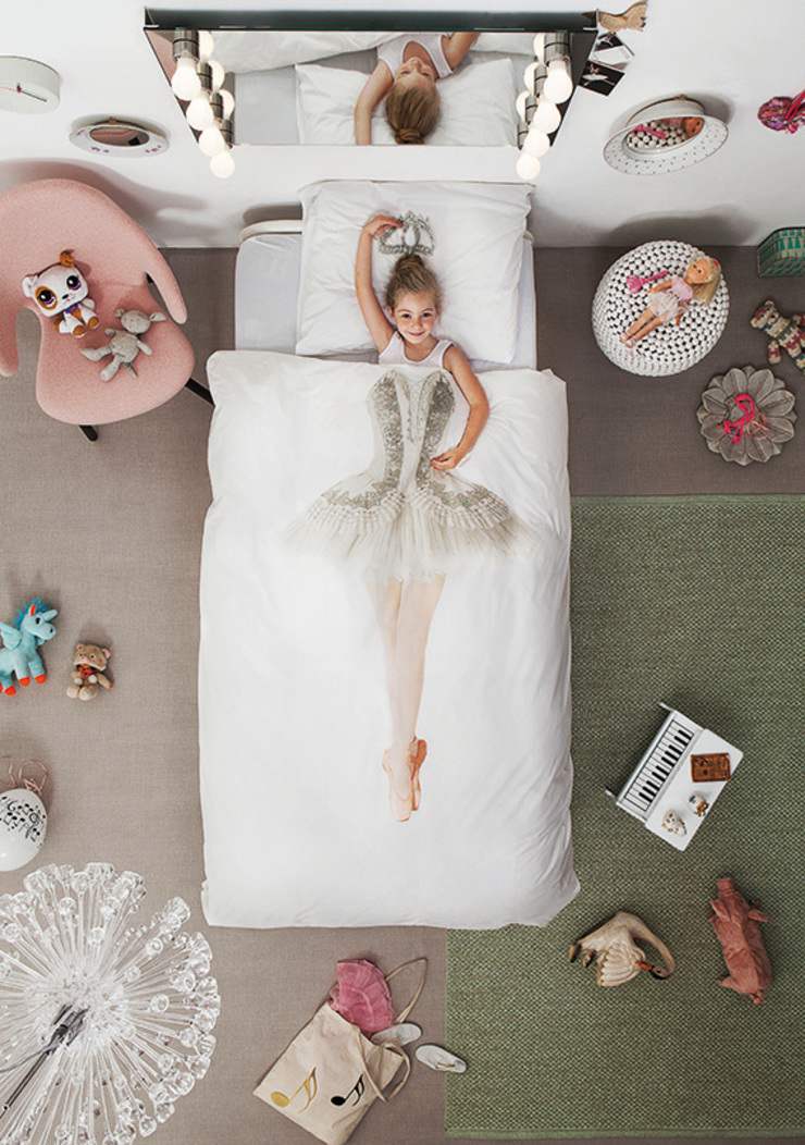 SNURK Children's Ballerina Duvet Bedding Set: modern  by Cuckooland, Modern