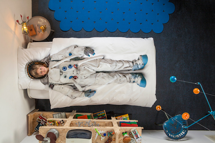 SNURK Children's Astronaut Duvet Bedding Set by Cuckooland Modern
