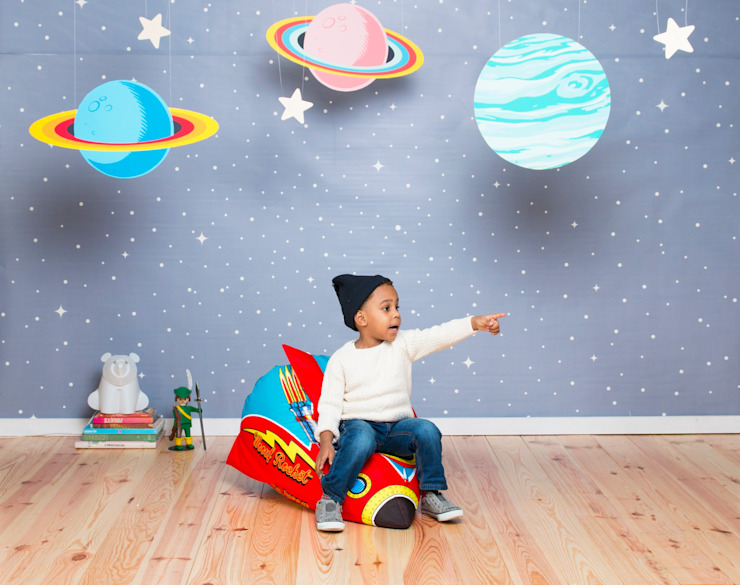 Rocket Kids Bean Bag by Woouf por Cuckooland Moderno