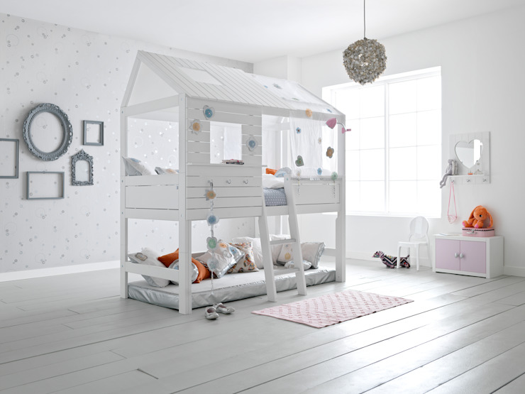 Silversparkle Children's High Hut Bed de Cuckooland Moderno
