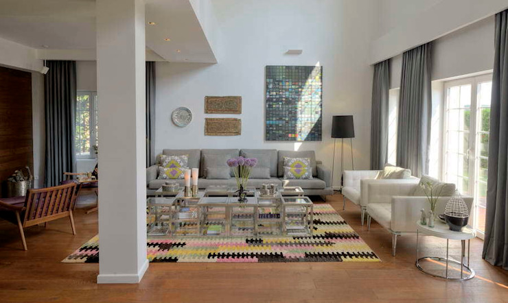 House E - E Evi Modern Oturma Odası HANDE KOKSAL INTERIORS Modern
