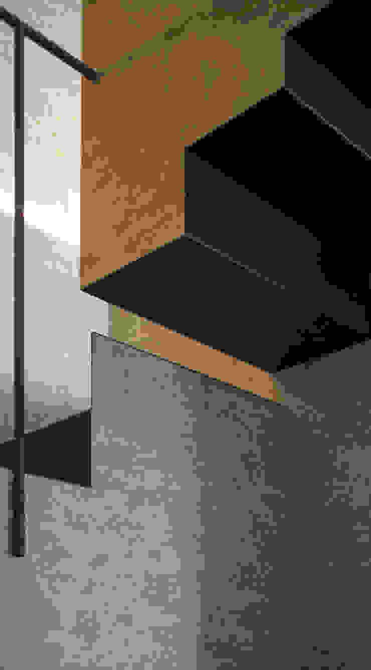scala dettaglio Ingresso, Corridoio & Scale in stile eclettico di Plastudio Eclettico