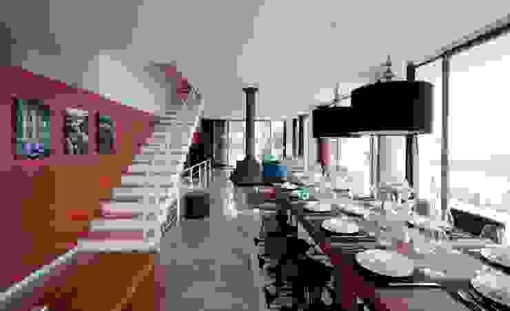 HANDE KOKSAL INTERIORS – House C3 - C3 Evi:  tarz Yemek Odası,