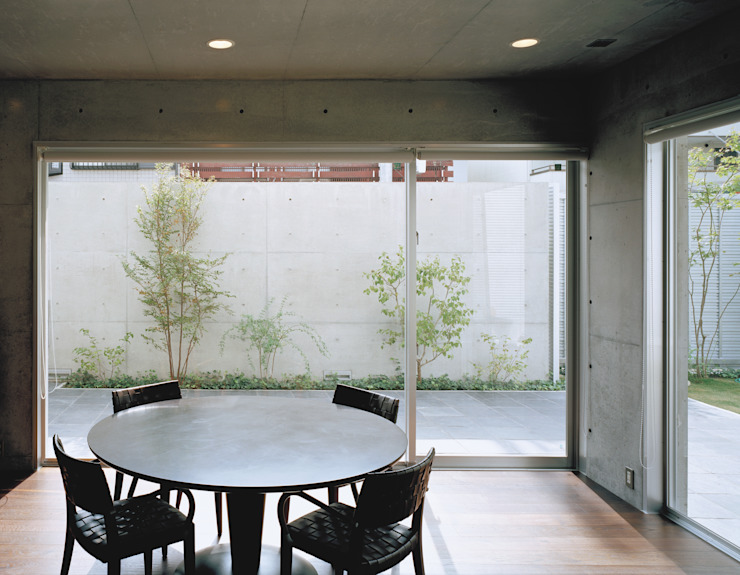 House of Kami Modern dining room by atelier m Modern Reinforced concrete