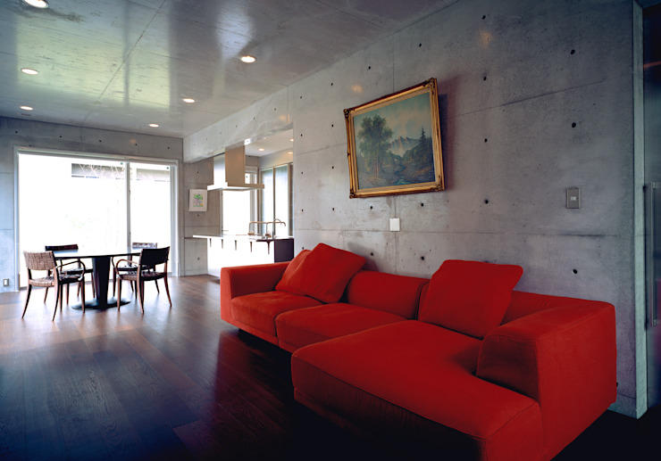 House of Kami Modern living room by atelier m Modern Reinforced concrete