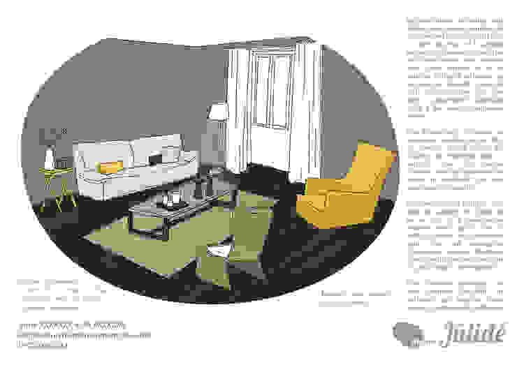 Yellow touch Salon moderne par Atelier Jûlidé Moderne