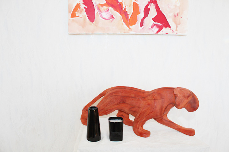 Leopard Sculpture - Red: modern  by Nilare, Modern