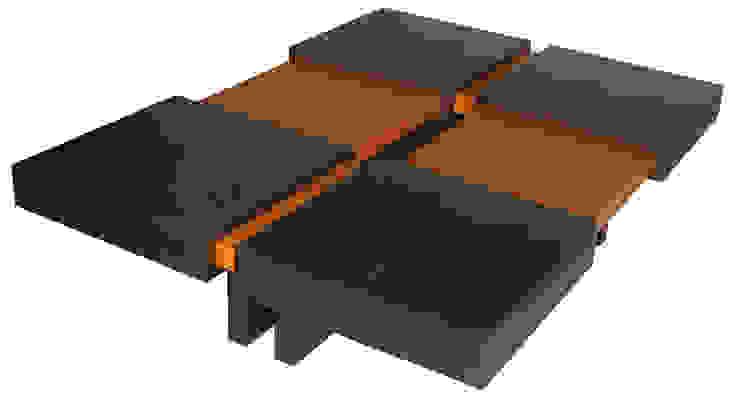 TABLE BASSE CONTEMPORAINE par Claire et Daniel Bourget Moderne