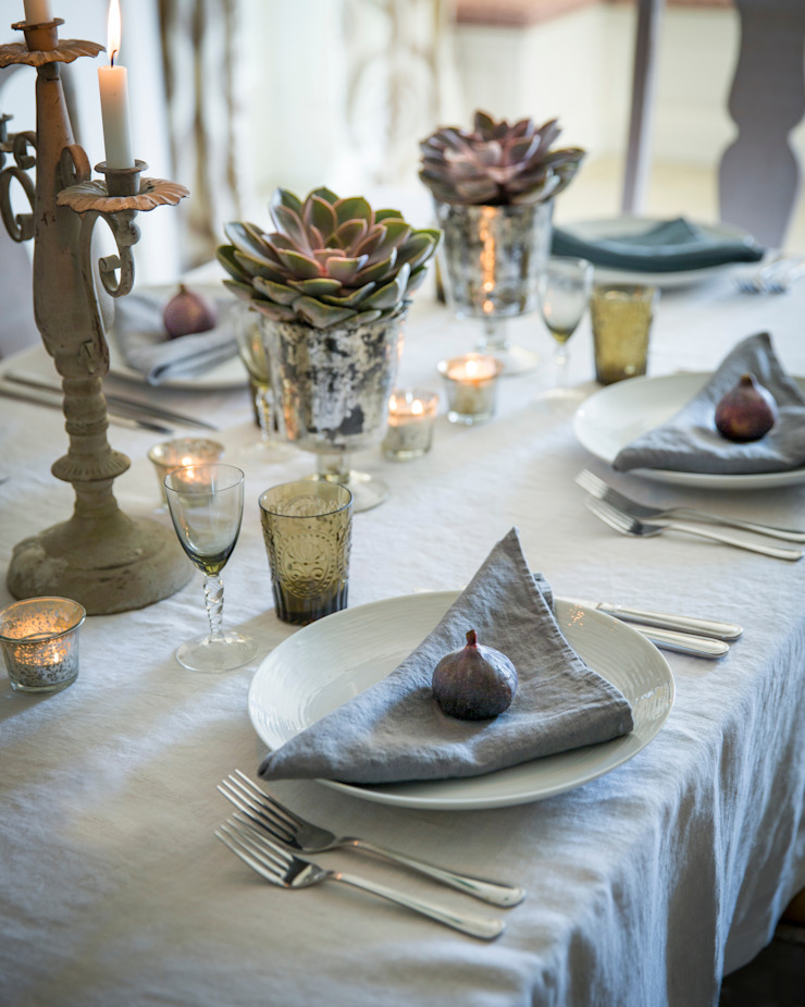 Winter Autumn 2014 Dining room by The Linen Works