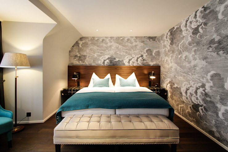 Hotel City, Zurich Modern style bedroom by Studio Frey Modern