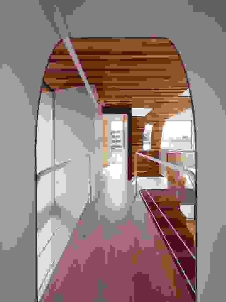 廊下 モダンスタイルの 玄関&廊下&階段 の イシウエヨシヒロ建築設計事務所 YIA モダン 木 木目調