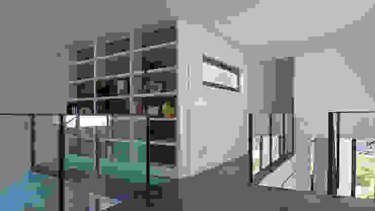 Vivienda en Fornos Estudios y despachos de estilo moderno de AD+ arquitectura Moderno Tablero DM