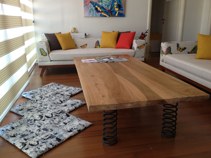 wood spring table Murat Topuz Atelier Endüstriyel