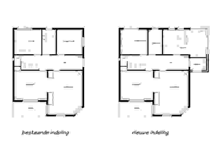 Uitbreiding en verbouwing monumentaal woonhuis:   door Architectenbureau Van Löben Sels,