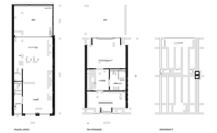 plattegronden Minimalistische huizen van 8A Architecten Minimalistisch