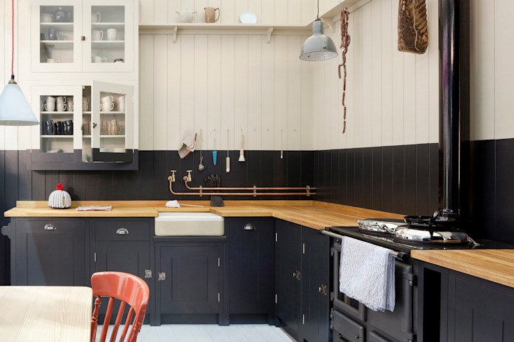 The Original British Standard Kitchen British Standard by Plain English ห้องครัว ไม้ Black