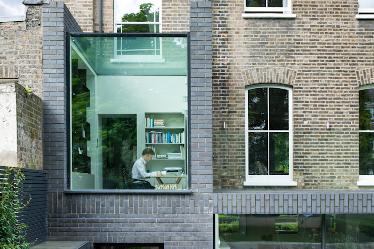 A Brick and a Half house Minimalist study/office by Lipton Plant Architects Minimalist