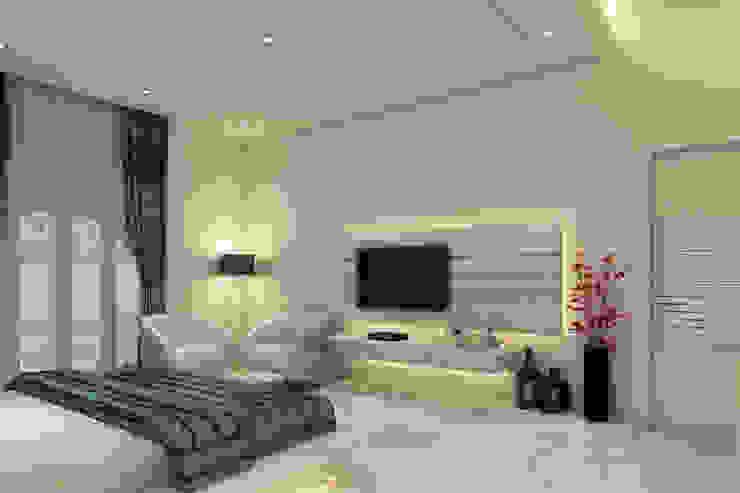 غرفة نوم تنفيذ K Mewada Interior Designer , حداثي