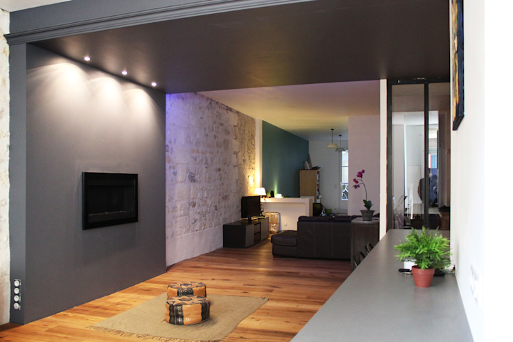 Salon Salon moderne par BIENSÜR Architecture Moderne
