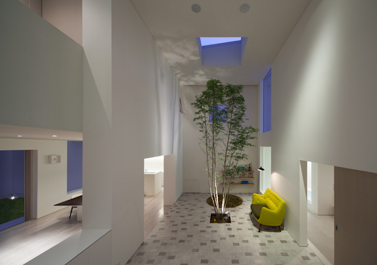 obi house モダンデザインの リビング の ソルト建築設計事務所 モダン