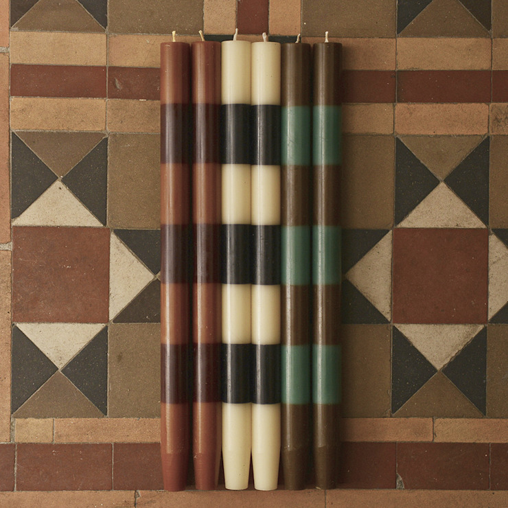 Moroccan stripe candles: rustic  by Fate London, Rustic